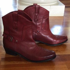 Franco Sarto short western boots